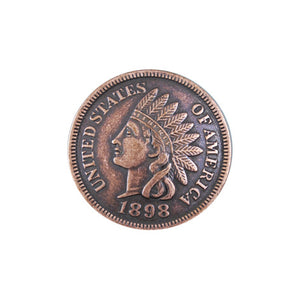 Indian Penny Concho with Screwpost - American Leatherworks
