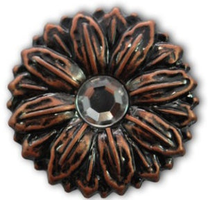 Sunflower Concho with Screwpost (Choose Size and Color at Checkout) - American Leatherworks