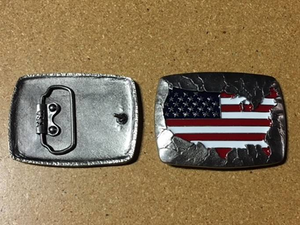 """American Pride"" Trophy Buckle (Made in America!) - American Leatherworks"