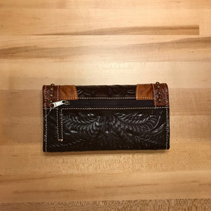 3-Tone Leather Ladies' Trifold Wallet - American Leatherworks
