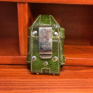 Prairie Grass Green Cell Phone Case with Crystal Spots - American Leatherworks