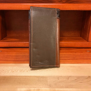 Brown and Antique Brown Leather Men's Rodeo Wallet - American Leatherworks