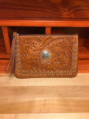 Antique Brown Leather Easy Traveler Case - American Leatherworks