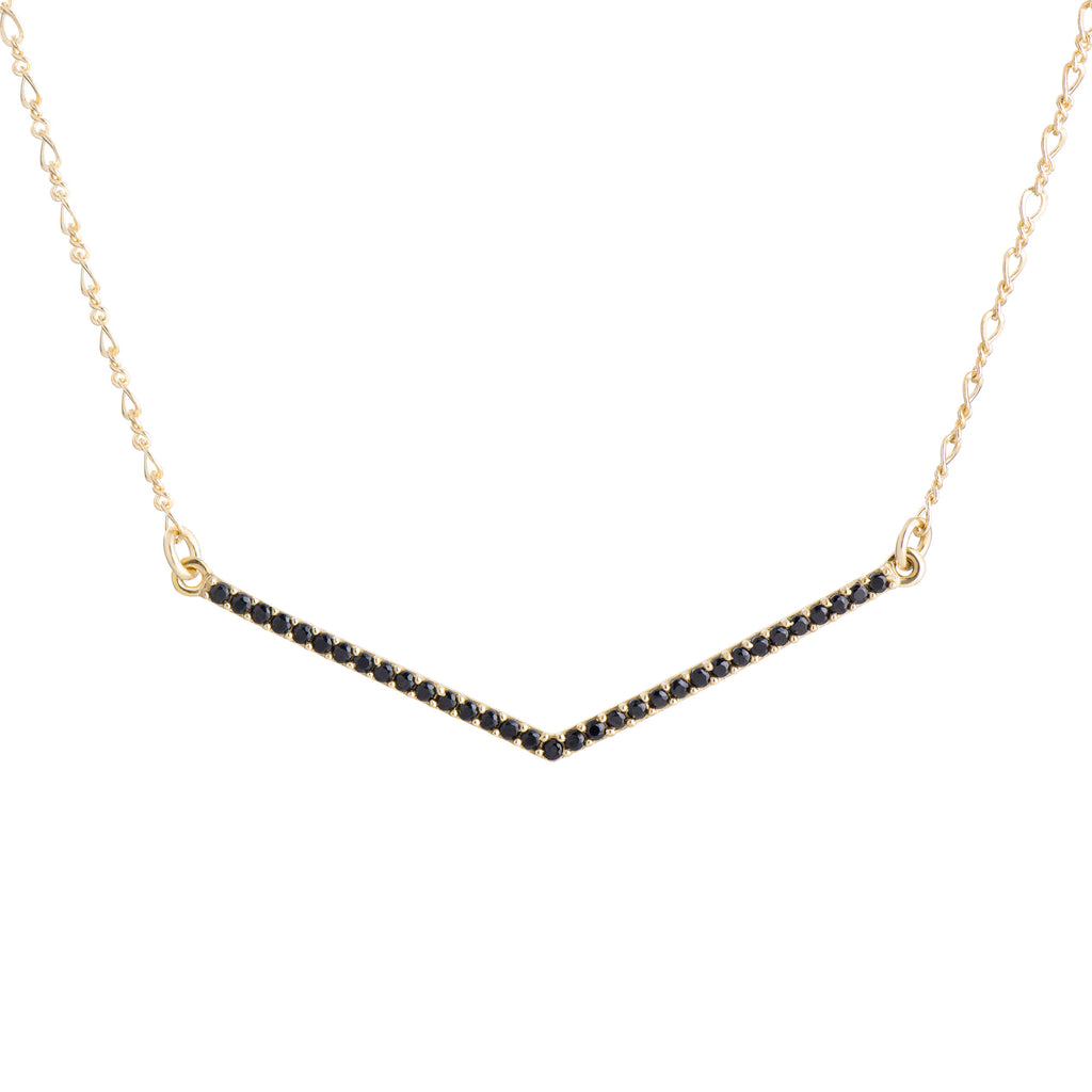 V Necklace - Black