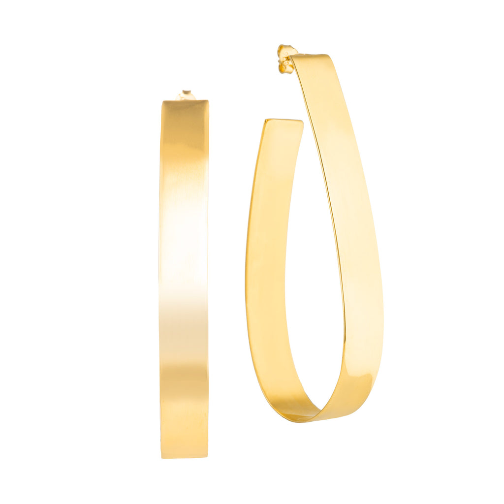 Bold Hoops Narrow - Gold