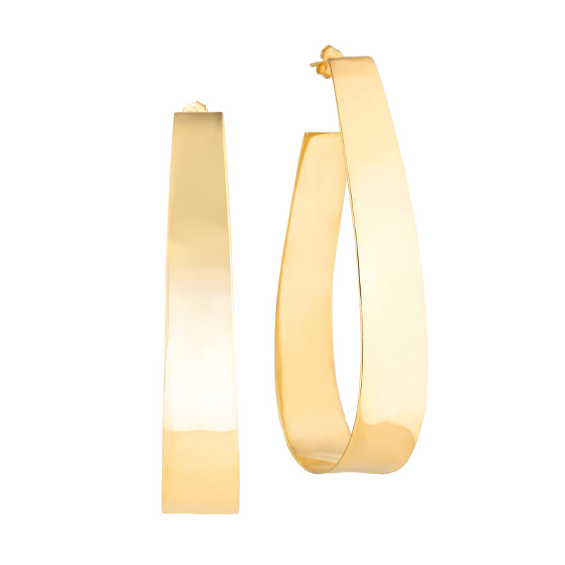 Bold Hoops Wide - Gold