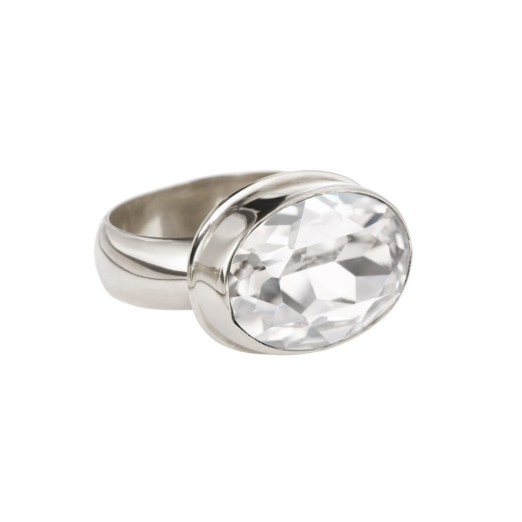 Large Oval Ring - Silver