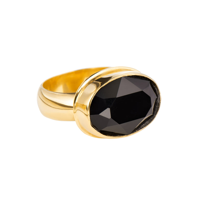 Large Oval Ring - Black