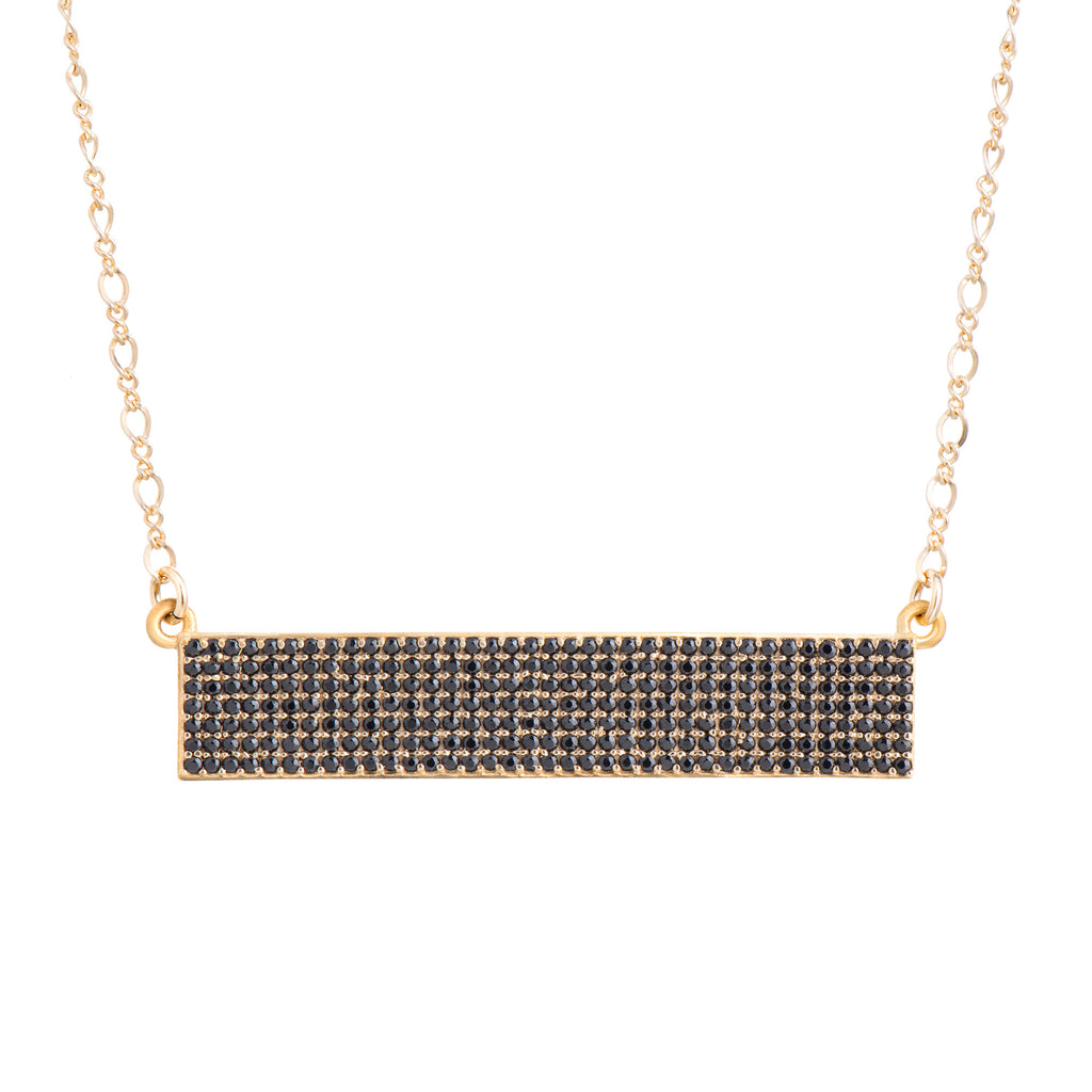 Horizontal Bar Necklace - Black