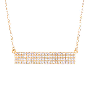 Horizontal Bar Necklace - Clear