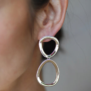 Elise Earrings - Silver