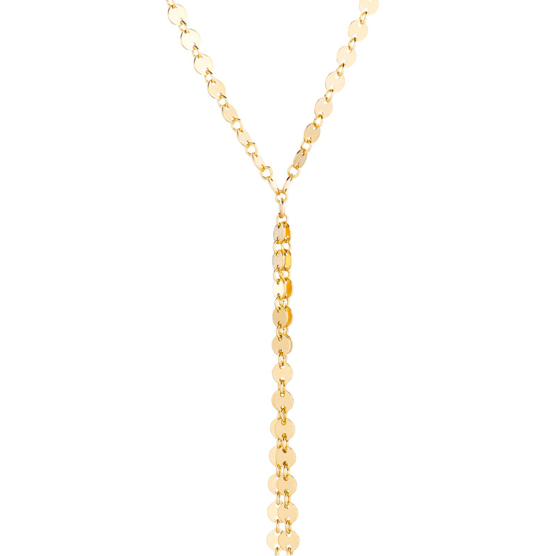Coin Chain Lariat - Gold