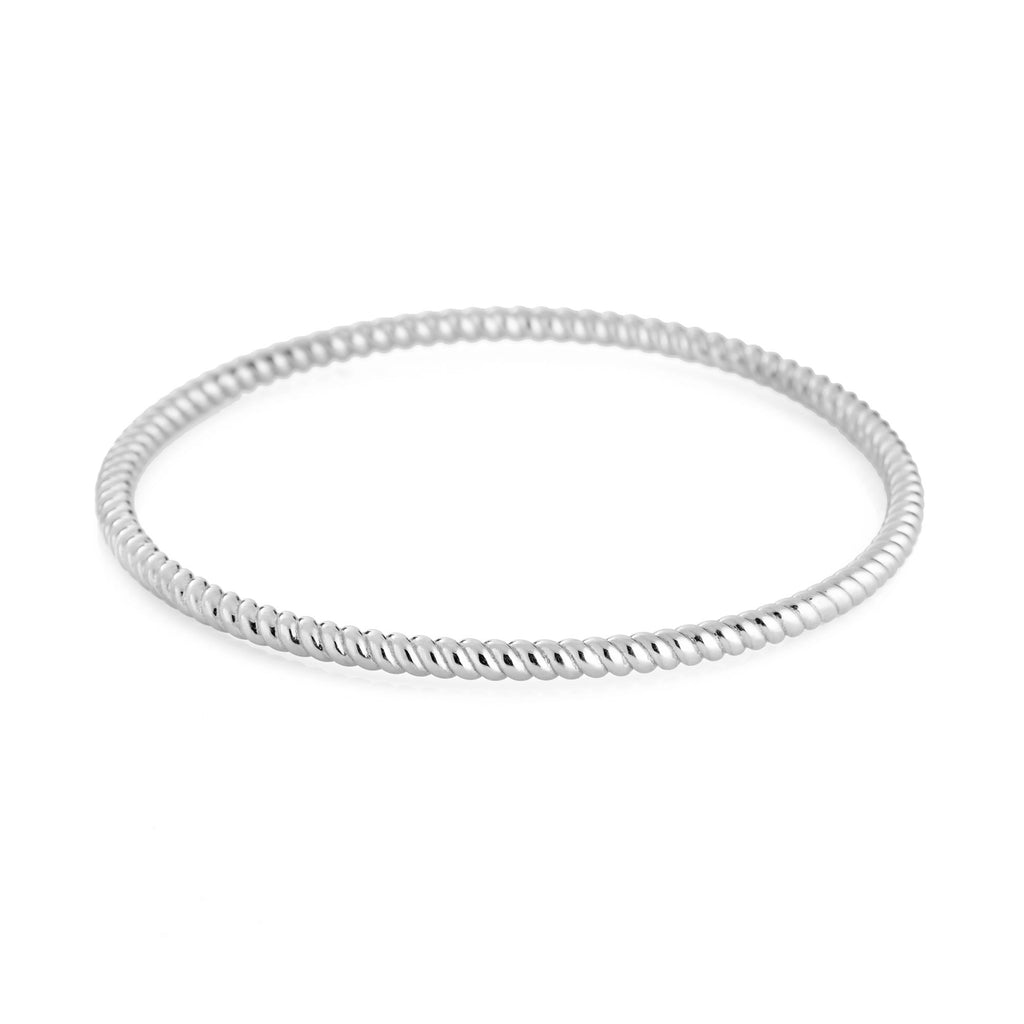 Twisted Bangle - Silver