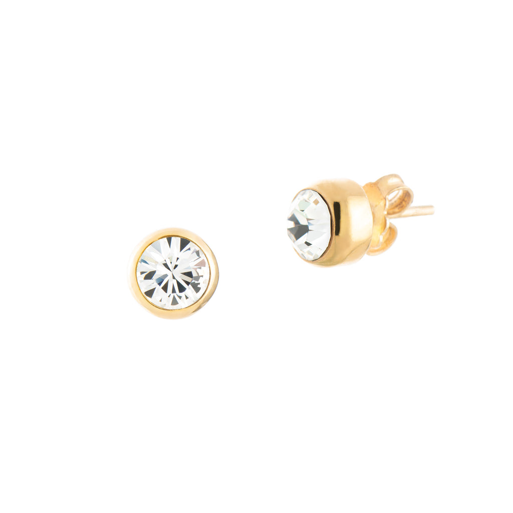 Toscana Studs Small - Clear
