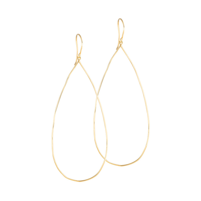 Delicate Rain Drop Hoops