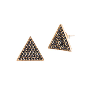 Triangle Studs - Black