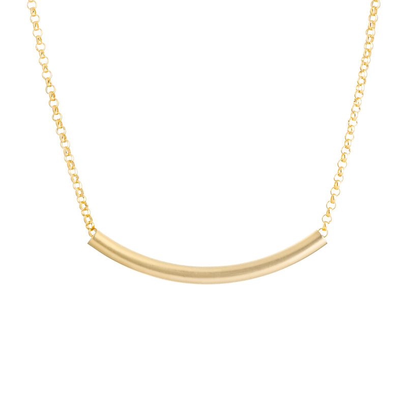 Tube Necklace- Gold