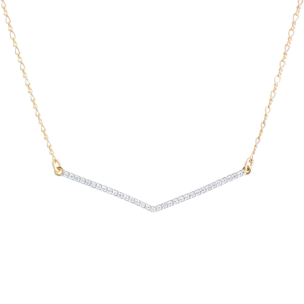 V Necklace - Clear