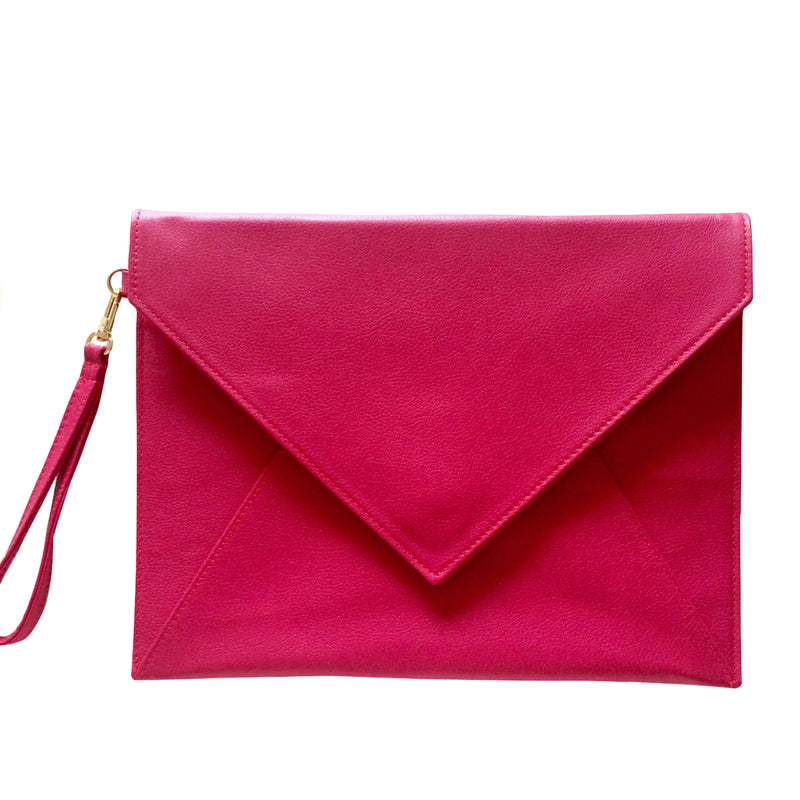 Elly Clutch Haute Pink