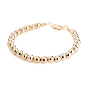 6mm Ball Bracelet - Gold