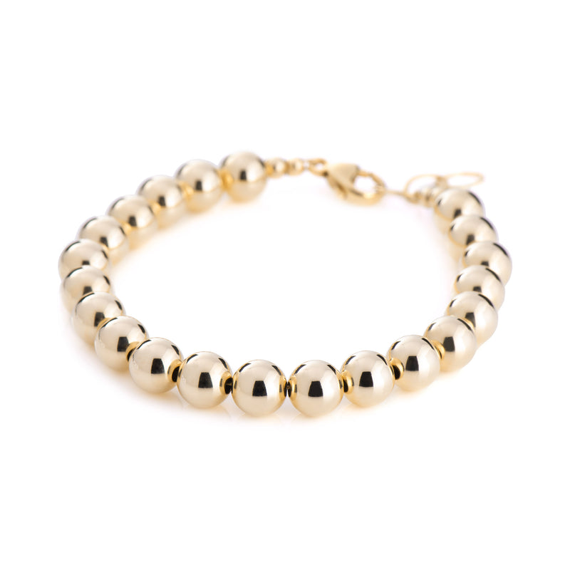 8mm Ball Bracelet - Gold