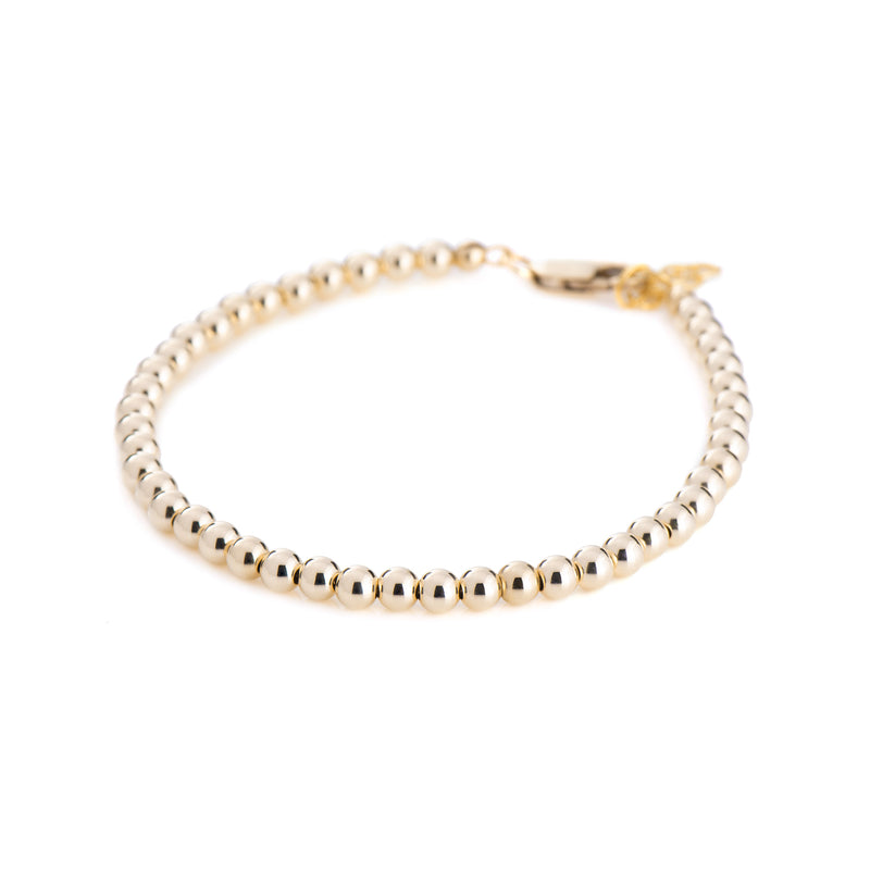 4mm Ball Bracelet - Gold