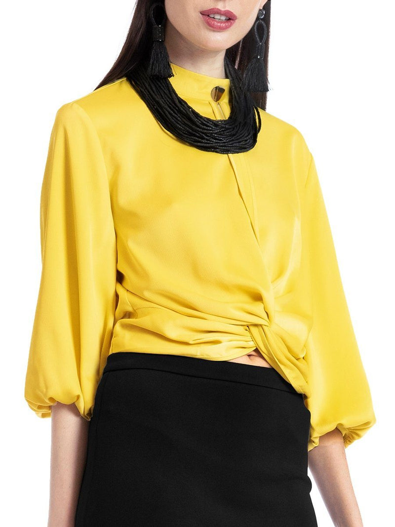 Waist tied wide sleeve top TOP Gracia Fashion