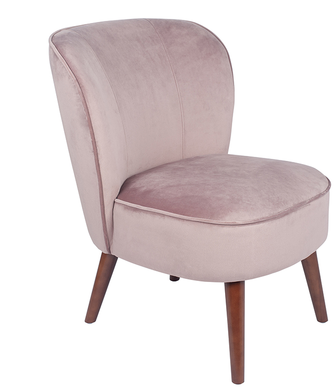 Blush Velvet Cocktail Chair