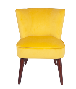 Ochre Velvet Square Top Chair