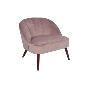 Blush Velvet Chair