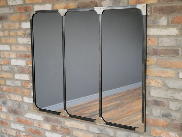 Industrial Studded Mirror
