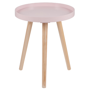 Pink Round Side Table