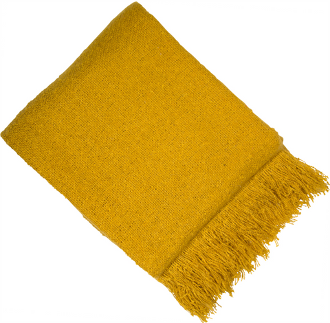 Mustard Woven Throw