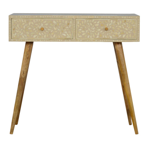 Floral Inlay Console Table
