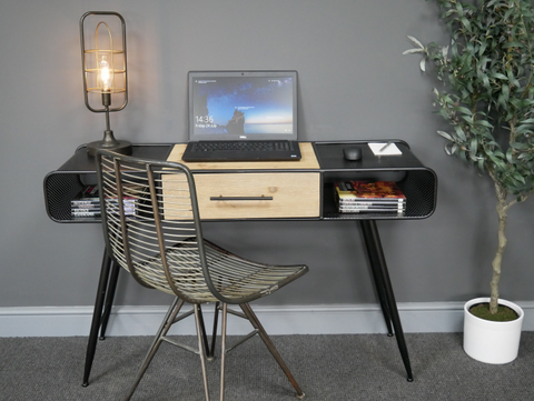 Black industrial Desk