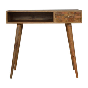 Tiled Curved Writing Desk