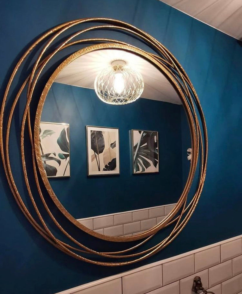Gold Wire Mirror