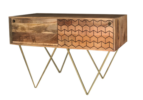 Geo-Carved Console