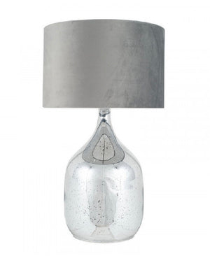 Silver Speckle Glass Table Lamp