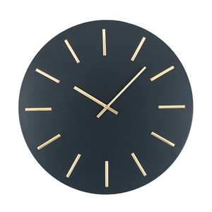 Matt Black and Gold Wall Clock