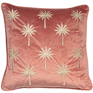 Pink Velvet Palm Cushion
