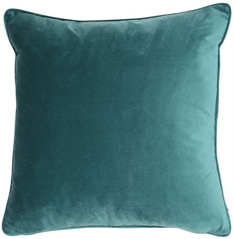 Luxe Jade Velvet Cushion