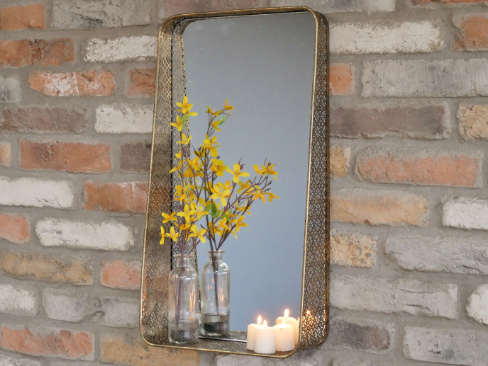 Gold Detailed Display Mirror
