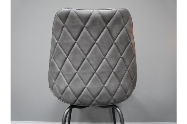 PU Leather Curved Quilted Chair - Set Of Two