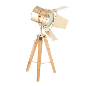 Film Set Table Lamp (Gold and Natural)