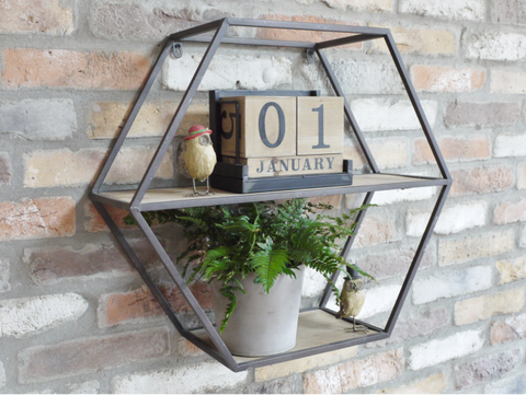 Hexagon Wall Display
