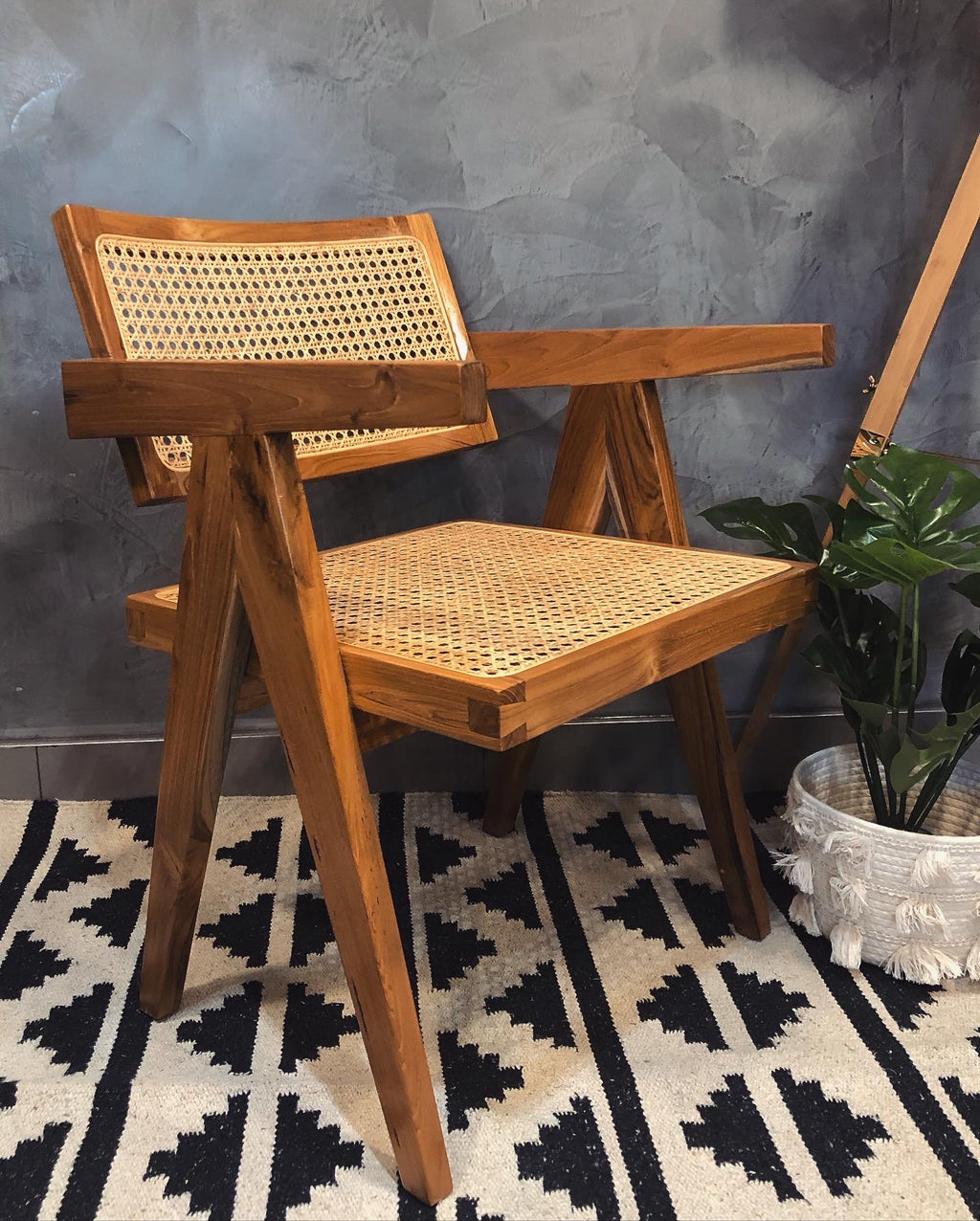 Rattan Teak Chair - Natural (Set of Two)