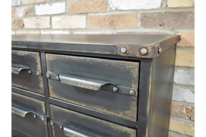 Black Distressed Cabinet