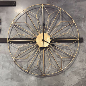 Antique Gold Geometric Clock