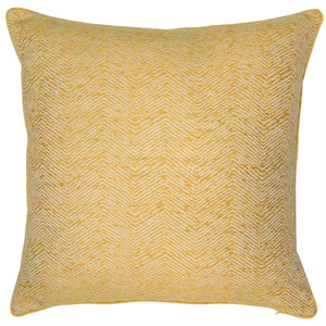 Large Ripple Mustard Cushion